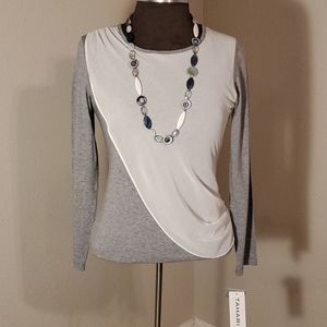 *GIRL'S XL* NWT TAHARI L/S Top W/Decorative Fabric